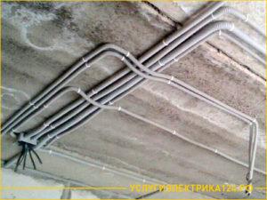 прокладка кабеля в гофре: выполненная работа