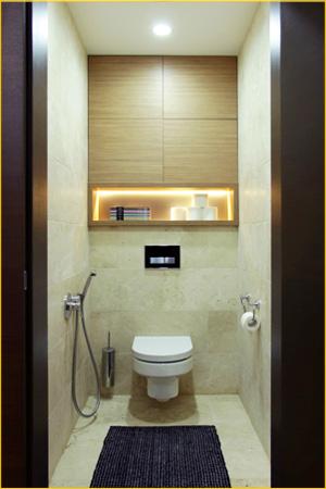 Замена проводки в туалете для лампочки и подсветке