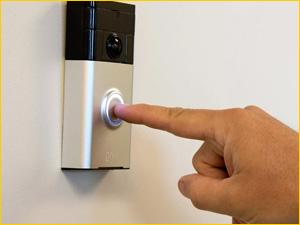 Звонок на входной двери с видеоглазком