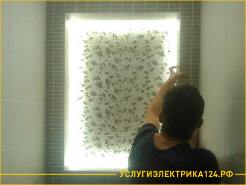 Монтаж диодной ленты для подсветки ниши в туалете