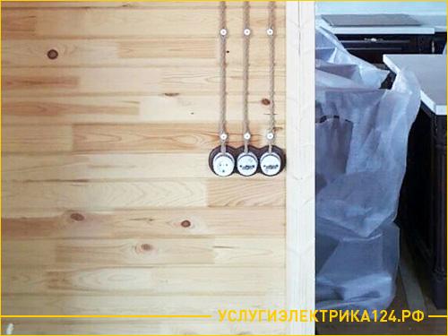 Установка выключателей и розетки в бане