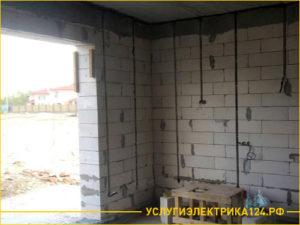 Прокладывание электрокабеля в гараже из бетона