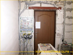 Замена проводки в коридоре квартиры и подключение электрощетка