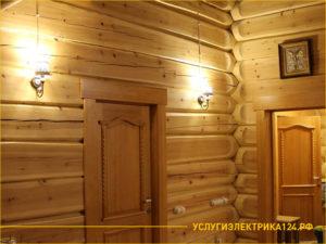 Светильники в деревянном доме с наружной проводкой