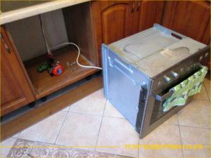 Замена проводки от розетки до духовки